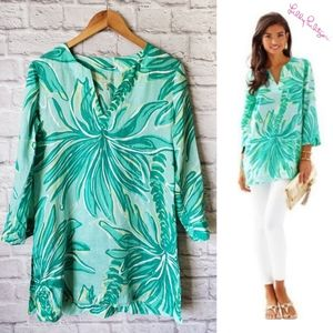 Lilly Pulitzer Green Linen Tunic